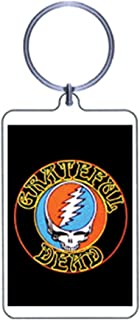 Grateful Dead Steal Your Face + Dancing Bear Croakie New Old Stock Vintage Key Rings = Set of 2 =
