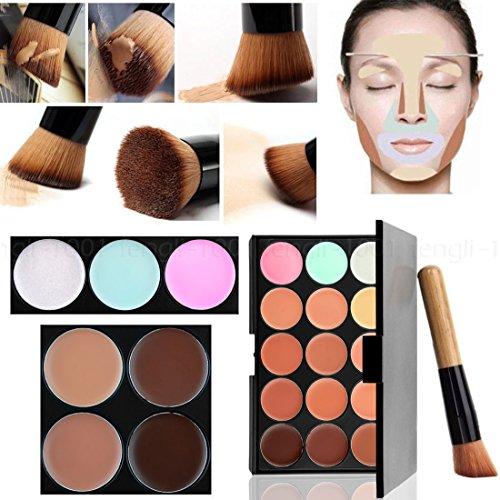 Boolavard 15 Couleurs Visage Contour Maquillage Kit Camouflage Palette Cream Concealer avec Pinceau