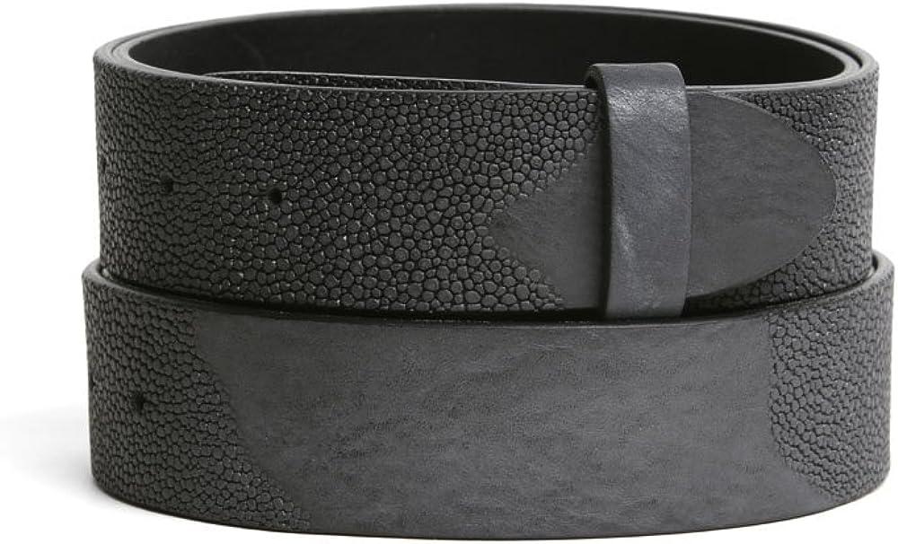 VaModa Belt, Cinturón en piel, modelo Lima, color negro, sin hebilla