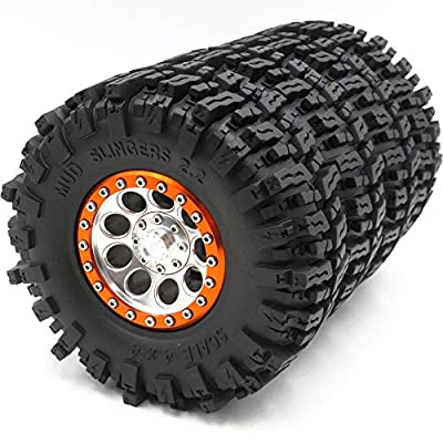 Hobbysoul 4pcs RC Rock Crawler 2.2 Mud Slingers Tires