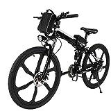 Speedrid Bicicletas eléctricas, Bicicletas Plegables eléctricas de 26 Pulgadas con Ruedas de aleación de magnesio, Bicicleta eléctrica de la Ciudad para Hombres Adultos Mujeres