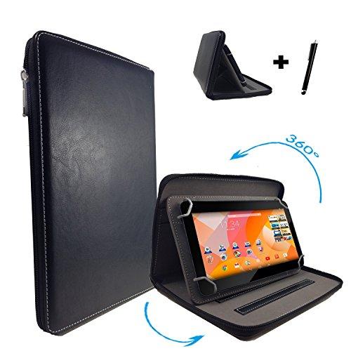 Medion Lifetab S10334 MD98811 Tablet PC Tasche mit dreh und Aufstellfunktion - 360° 10.1 Zoll Reißverschluss Schwarz