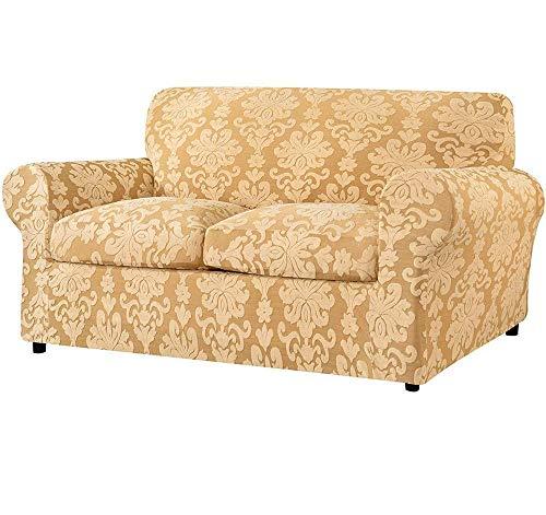 Fodera per divano con cuscino separato, protezione per divano da soggiorno in tessuto damascato jacquard, elegante rivestimento per mobili in tessuto elasticizzato durevole spandex, buona scelta per