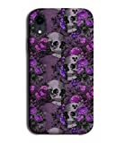 G065 Coque pour Samsung Galaxy S8 Plus/S8+ Motif tête de mort et squelette Violet