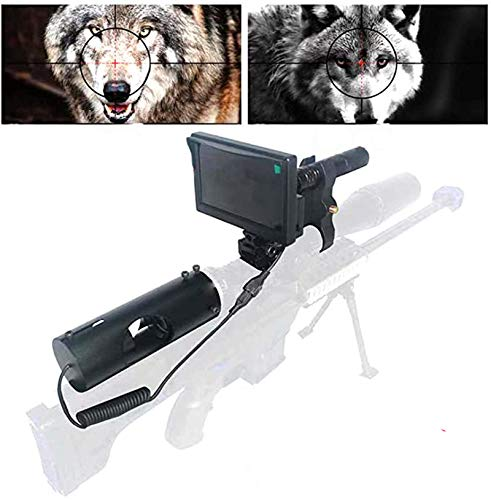 Best Price Sumger 984ft/328yard Infrared Night Vision Scope Video Cameras, IR NightVision Riflescope 1080P Hunting Optical Scope 4.3″ Portable Display Screen for Hunting Optics