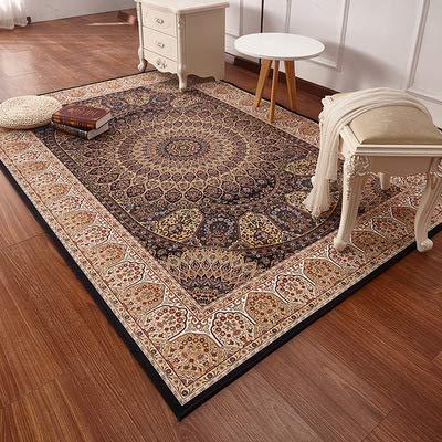 Zhyyhz Bereich Teppiche Oriental Traditional Floral Carpet Leicht zu reinigen Fleck/Fade Resistant...