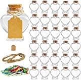 Folinstall 30 Pieces Heart Shaped Small Glass...