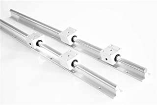 CHUANGNENG 2Pcs SBR12-1000mm 12MM Linear Bearing Rail Slide Guide Shaft + 4Pcs SBR12UU Blocks US Stock