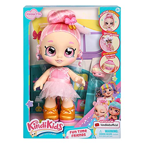 Kindi Kids Fun Time Friends - Pre-School Play Doll, Pirouetta - for Ages 3+ | Changeable Clothes and Removable Shoes