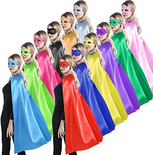 Adults Superhero Capes and Masks for Women Man or Teenagers Party Costumes for Team Spirit Building product image