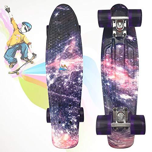 LAYBAY Skateboard Kinder Komplettboard Mini Cruiser Skate Penny Board 22