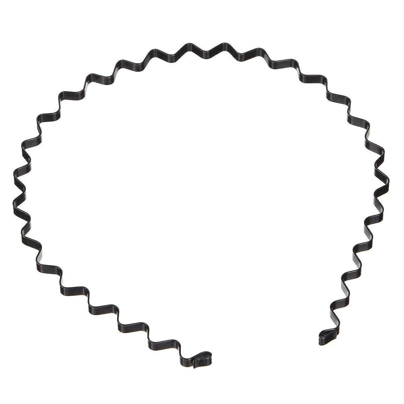 専制アシスタント実験的Onior ユニセックスブラックスプリングウェーブメタルフープヘアバンドガールメンズヘッドバンドアクセサリー1ピース耐久性と実用的