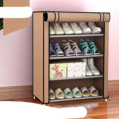 EUIWTUAJVN 5 Layers Shoe Storage Cloth Fabric Storage Shoes Combination Shoe Cabinet Folding st-proof Shoe Shelf-Dark Khaki,China