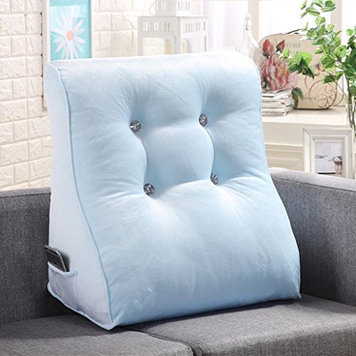 Coussins de couleur unie peut soutenir la taille et le cou adapté pour les chaises de bureau canapés fauteuils tables de nuit sièges d'auto et fauteuils roulants. (Color : Blue)