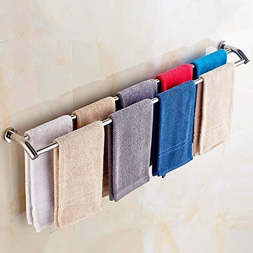 30-120CM doppelte Stab Handtuchhalter / 304 Edelstahl doppelte Handtuchhalter/Rack/Handtuch bar/Küche Zubehör (größe : 100cm)
