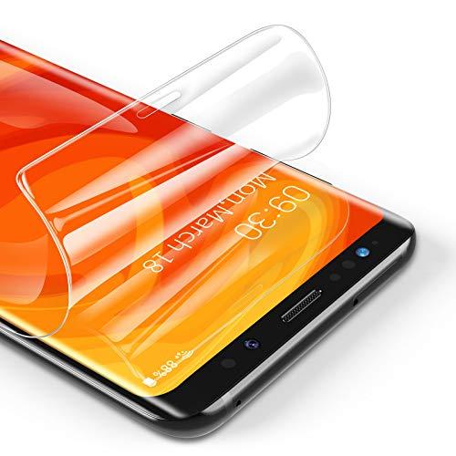 RIWNNI [3 Pezzi Pellicola Protettiva per Samsung Galaxy S8, Ultra Sottile Morbido TPU Pellicola Copertura Completa Protezione Schermo Senza Bolle per Samsung Galaxy S8 - Trasparente
