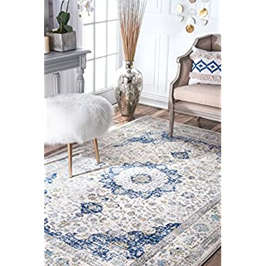nuLOOM Traditional Persian Vintage Rug, 8' x 10', Blue