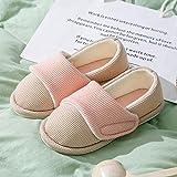 Jardín Sandalias,Zapatos de confinamiento con tacón de Suela Blanda, Pantuflas de algodón para abrigarse después del Parto-Pink_38-39,Slippers Suave