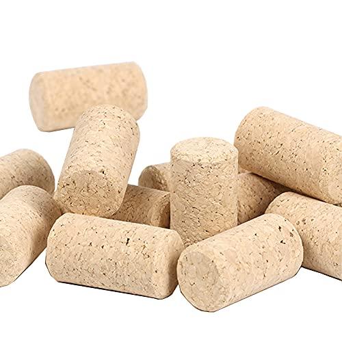 100 Piezas Botella Corcho Natural Madera, Corchos de Vino de Madera Natural, Tapón de Corcho Recto, Corcho de Corcho Para Vino Tinto y Decoración, para hacer varias manualidades