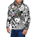 Bakugou Terrible Junji Ito Uzumaki & Tomie Etc Collage 3D Print Men's Pullover Long Sleeved Sweatshirts Hoodies