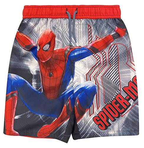 Boys' Spider-Man Movie: Far from Home Swim Trunk Swimsuit Boardshort Board Short 5/6