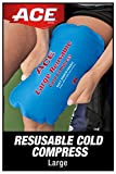 ACE-207517 Reusable Cold Compress, Ideal for sprains, strains, muscle aches, bumps, bruises and minor burns, Soft-touch fabric to apply directly to skin, Large-1 Count (Pack of 1)