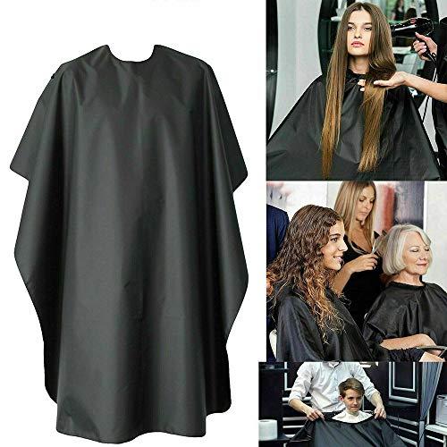 lishism629085 HairCutting Gown Cape, Vrouwen Mannen Haar Schort Beroep Kapper Cape, Haircut Gown Kleur Salon Styling Bib Kapper Schort Zwart