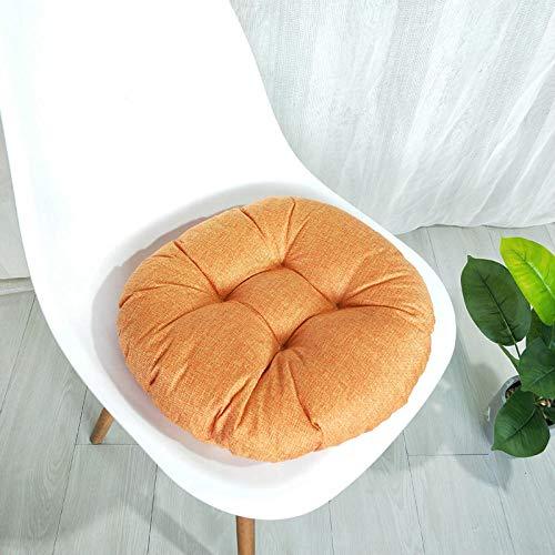 WANINE Einfarbig Kissen Wohnzimmer Schlafzimmer Sofa Kissen Büro Lendenkissen Auto Zurück Stuhl Kissen-Oranger Kreis_40 * 40 * 9 cm