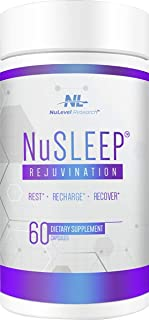 NuLevel Research: NuSleep Rejuvination Sleep Support - Night-Time Rest & Recovery Supplement - 60 Capsules - with Low Dose...