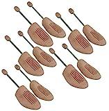 DELFA Juego de 5 pares horma de zapatas de madera con espiral, buena calidad y precio mode...