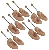 Delfa 5 Paar Schuhspanner 42-43 Schuhformer Schuhstrecker Birkenholz mit Metall-Spiralfeder