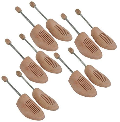DELFA Juego de 5 pares horma de zapatas de madera con espiral, buena calidad y precio moderado