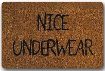 Custom Il Nice sous-vêtements rectangulaire décoratif antidérapant Paillasson 15,7 par 23,6 par 3/40,6 cm