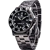 Smith & Wesson Men's S.W.A.T. Watch, 3ATM, Stainless Steel Caseback, Glowing Hands, Back Glow, 40mm