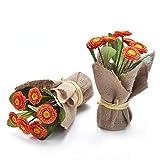 Paquete de 2 Plantas de Aster de Flores Artificiales, Ramo de Margaritas de Colores Falsos, 6 Cabezas, racimos de Margaritas de imitación con Maceta para decoración del hogar, centros de Mesa