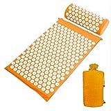 Faviye - Set de masaje acupresión-masaje, esterilla de yoga con almohada y bolsa para yog...
