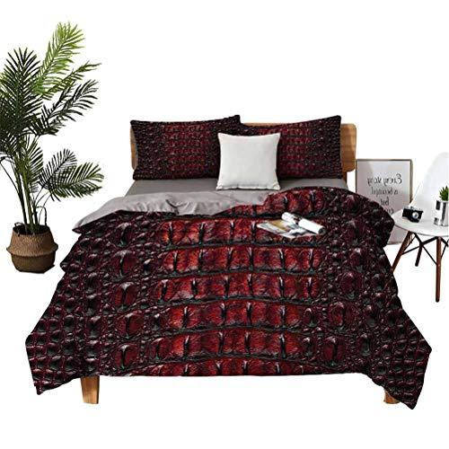 Animal Print 3-Piece Lightweight Comforter Cover Set Wild Crocodile Skin Boys Bedding King