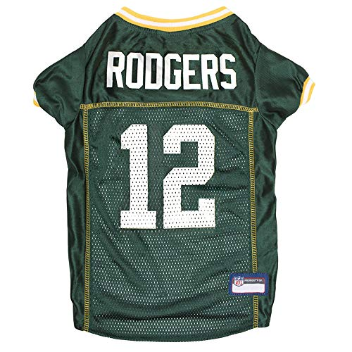 NFL Green Bay Packers AARON RODGERS Unisex AR-4100-LGNFL GREEN BAY PACKERS PET JERSEY AARON RODGERS size Large. Licensed by NFL & NFLPA for DOGS & CATS!, Team Color, Large