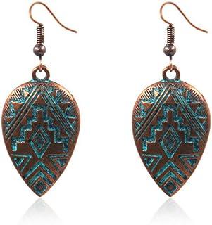OETY New Boho Ethinic Dangle Drop Earrings Hanging for Women Vintage Bohemian Style Jewelry Accessories,Bronze