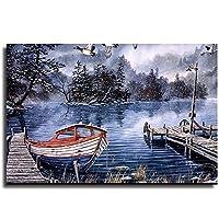 キャンバス壁アートフォレスト風景絵画壁の装飾キャンバス写真家の装飾の壁の装飾を掛ける準備ができて A-20×30inch(50×75cm)