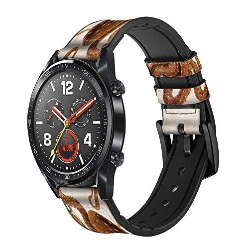 Innovedesire Vintage Octopus Smart Watch Armband aus Leder für Wristwatch Smartwatch Smart Watch Größe (24mm)
