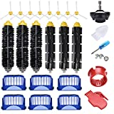 JoyBros 23-Pack Replacement Parts Accessories Compatible for iRobot Roomba 600 Series 690 692 680 660 651 650& 595 585 564 552 Side/Sweep Bristle Roller Brush Filter Caster Wheel