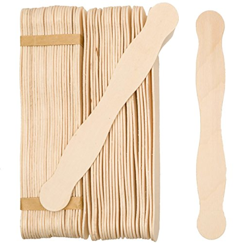 100 Natural Wavy Jumbo Wood Fan Handles Wedding Fan Craft Sticks 8 inchs - By Woodpeckers
