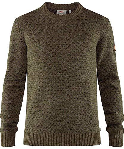 Fjallraven Herren Övik Nordic Sweater M Sweatshirt, Deep Forest, M