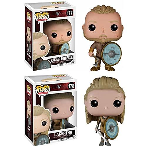 Anime Vikingos Lagertha Y Ragnar Lothbrok Vinilo Figura De Acción Colección Modelo Juguetes para Niños 10Cm