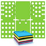 T shirt Clothes Folder T-shirt Folding Board Flip Fold Laundry Organizer Easy and Fast for Kid and Adult to Fold Clothes Green