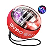 MOFOPAKOO Upgraded Auto-Start Wrist Power Ball with Digital LCD Counter Wrist Trainer Ball Workout Toy Spinner Gyro Ball Wrist Strengthener and Forearm Exerciser with LED Lights