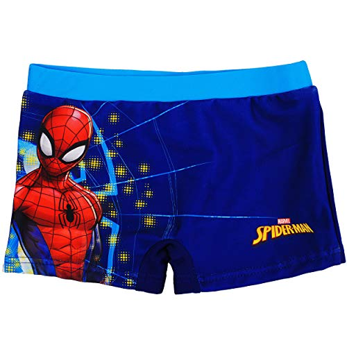 alles-meine.de GmbH Badehose / Badeshorts - Spider-Man - Größe 8 bis 9 Jahre - Gr. 134 bis 140 - für Jungen Kinder Badepants - Boxershorts Shorts mit Bein - Pants - Badeshort - M..