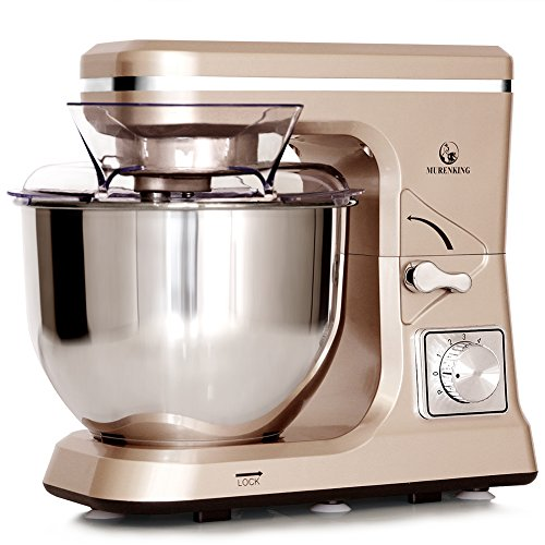 MURENKING Stand Mixer MK36 500W 5Qt 6Speed TiltHead Kitchen Food Mixer with Accessories Champagne