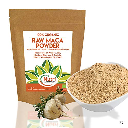 Nutri Superfoods - Raw Maca Powder - Organic Vegan Superfood for Balancing Hormones and Improved Energy Levels (500g)
